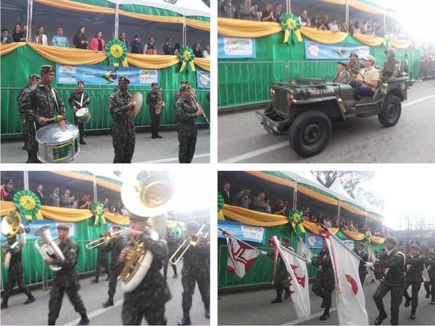 Desfile da Independência no Centro de Petrópolis (Foto: Andressa Canejo/G1)
