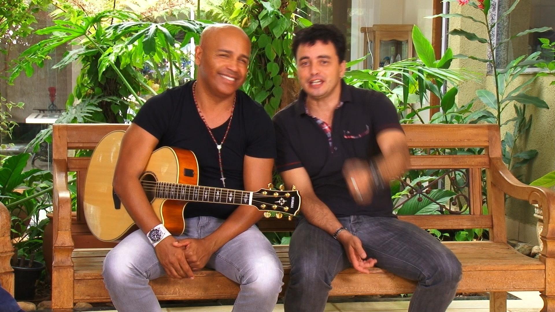 Rick e Rener no Frutos da Terra deste sábado (Foto: Produção TV Anhanguera)