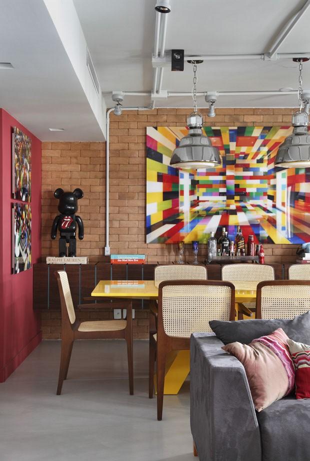 Apartamento colorido no Rio de Janeiro (Foto: Divulgação)