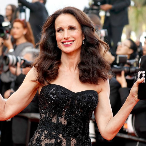 Andie MacDowell em Cannes 2017 (Foto: Getty Images)