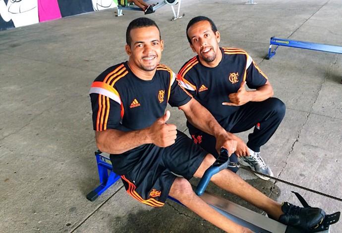 remo paralímpico Michel Gomes (Foto: Divulgação / Flamengo)