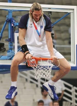 Walter Herrmann basquete Argentina 2004 (Foto: Getty Images)