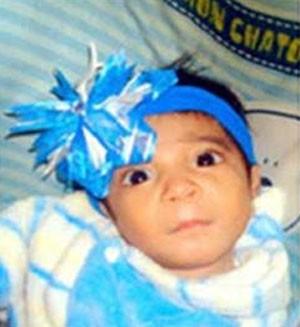 Bebê chegou a ter o nome incluído no sistema Alerta Amber, de menores desaparecidos no México (Foto: Reprodução/Alerta Amber México)