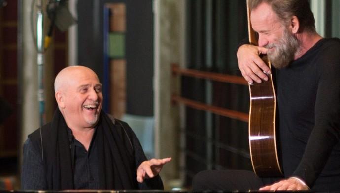 "Peter Gabriel e Sting se reúnem na turnê ""Rock Papper Scissors""  (Foto: York Tillyer/Divulgação)"