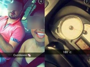 Garota também fez selfies antes do acidente (Foto: Reprodução)