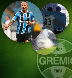 CARROSSEL - pacotão Grêmio e Coritiba (Foto: Editoria de Arte)