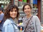 Vanessa Giácomo e Marjorie Estiano gravam cenas de 'Império' no Centro do Rio