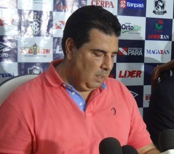 Zeca Pirão e Thiago Passos Nova diretoria Remo (Foto: GLOBOESPORTE.COM)