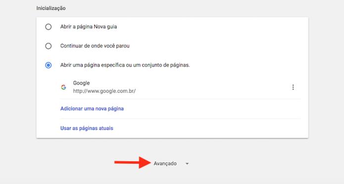 Visualize opções avançadas do Google Chrome no PC (Foto: Reprodução/Marvin Costa)
