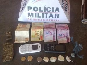 Drogas Andrelândia (Foto: Polícia Militar/Divulgação)