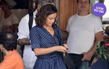 Look do dia: Alice Braga encara o verão carioca com vestido de poás
