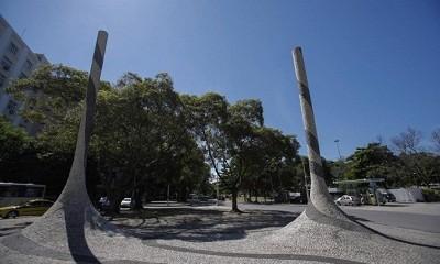 Escultura de Waltercio Caldas