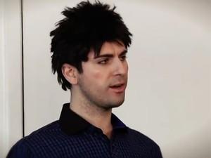 Fausto Fanti no programa 'Hermes e Renato', da MTV (Foto: Reprodução / MTV)