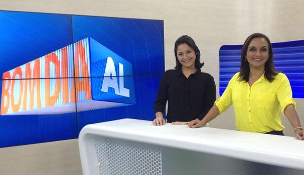 Chrystiane e Liara dividem a bancada no Bom Dia Alagoas (Foto: Divulgação/ Marketing OAM)