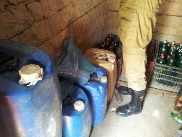 Operação apreende 628 litros de combustível no interior do Maranhão (Foto: Divulgação / 5BBM)