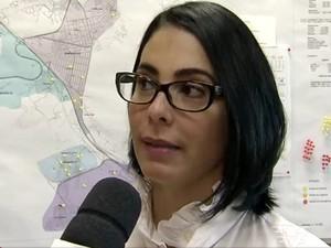 Marcia Rosa prefeita de Cubatão, SP (Foto: Reprodução/TV Tribuna)