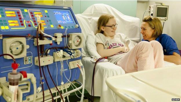 Megan Carter rejeitou um primeiro transplante há três anos e precisou filtrar sangue para ganhar novo rim (Foto: Megan Carter (Cortesia Great Ormond Street Hospital, Londres))