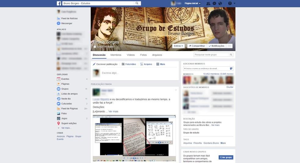 Grupo tem mais de 10,4 mil membros (Foto: Reprodução/Facebook)