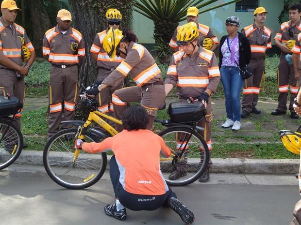 Treinamento com agentes da CET da região de Moema começou nesta quarta-feira (Foto: Divulgação/Bicicreteiro.org)