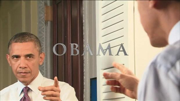 Obama participou de um imaginário trailer de sua cinebiografia, dirigida por Spielberg (Foto: BBC)