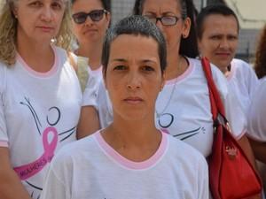 Sheila Galba , representante do grupo Mulheres de Peito (Foto: Tássio Andrade/G1)