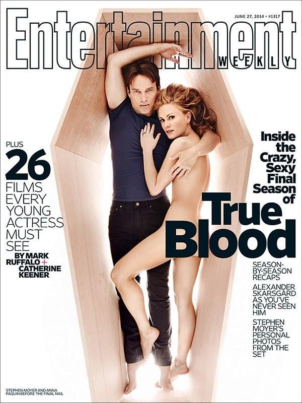 Anna Paquin posa nua ao lado de Stephen Moyer para capa de revista (Foto: Divulgação)