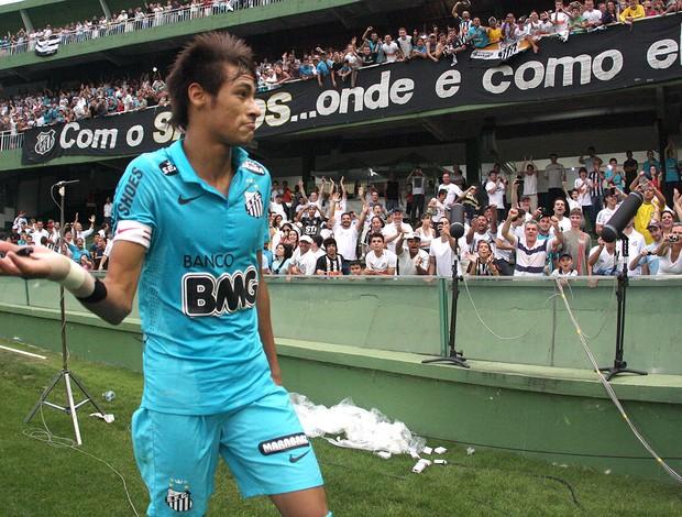 Neymar, Coritiba x Santos (Foto: Geraldo Bubniak / Agência Estado)