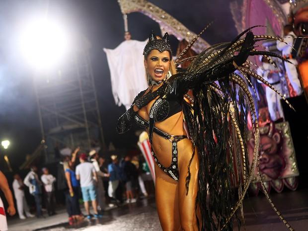 Cacau Colucci desfila em São Paulo (Foto: Iwi Onodera / EGO)
