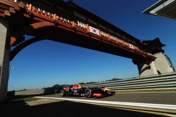 Sebastian Vettel no GP da Coreia do Sul de 2013 (Foto: Getty Images)