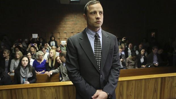 Oscar Pistorius no tribunal (Foto: Reuters)