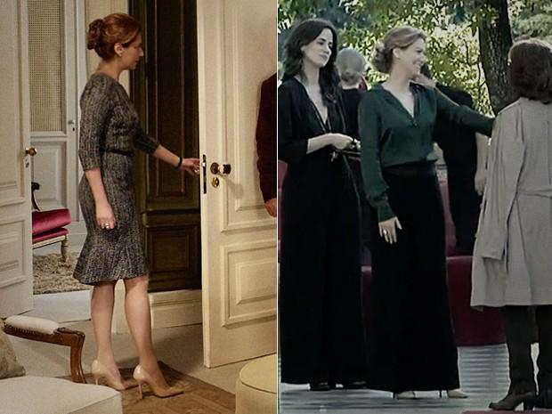 Scarpin nude de Angela cai bem com qualquer peça (Foto: O Rebu / TV Globo)