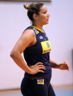 Treino vôlei feminino brasil - Tandara (Foto: Divulgação / CBV)