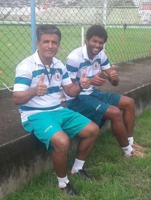 Toninho Cobra e o diretor de futebol, Danilo Freire (Foto: Divulgação/Real Noroeste)