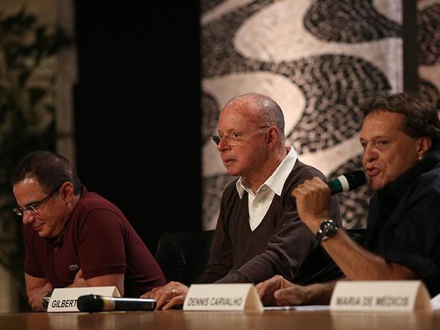 Dennis Carvalho, Gilberto Braga e Ricardo Linhares falam com a imprensa (Foto: Carol Caminha/Gshow)