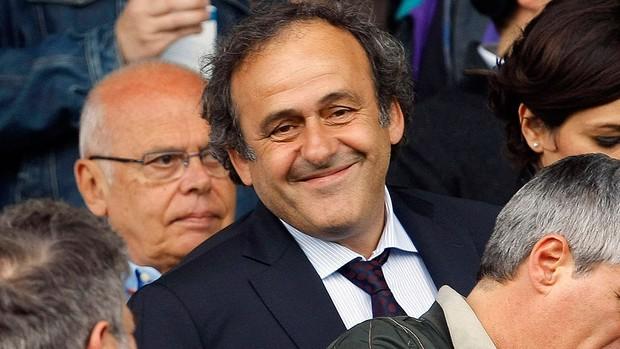 Michel Platini, no jogo da Juventus (Foto: Reuters)