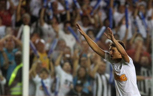Elano gol santos (Foto: Léo Barrilari / Ag. Estado)