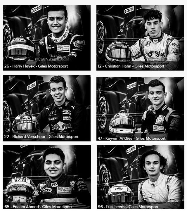 Pilotos da Giles Motorsport. (Foto: Divulgação/Castrol Toyota Racing Series)
