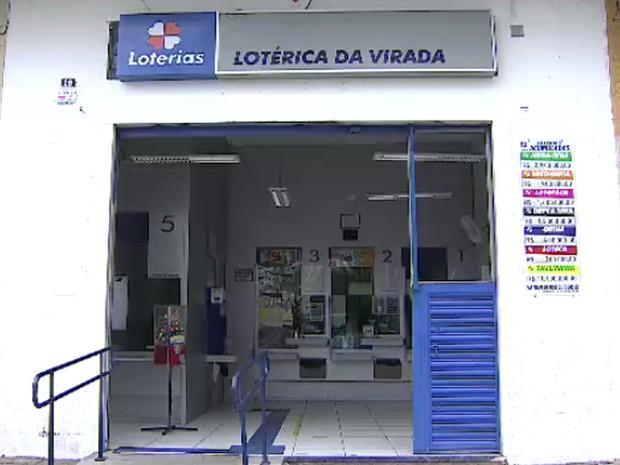Aposta vencedora da Quina de São João foi feita na Lotérica da Virada (Foto: Reprodução/ TV Vanguarda)