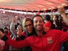 'Pé-quente', Christine Fernandes vibra com Flamengo: 'Espetáculo lindo'