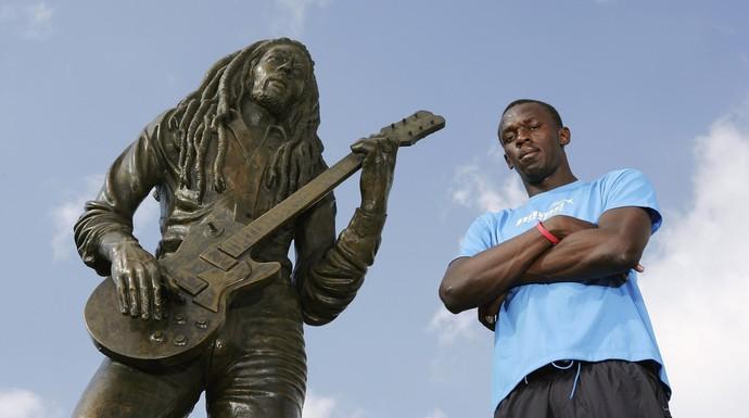 Usain Bolt vai ganhar estátua ao lado de Bob Marley (Foto: Getty Images)