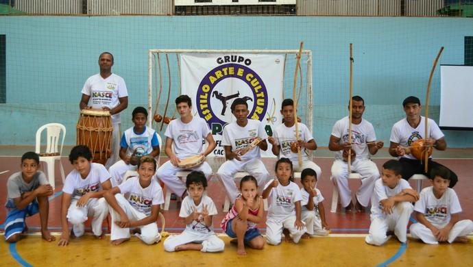 Novos alunos do projeto participam do evento (Foto: Aline Lopes)