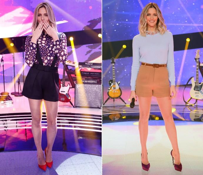 Esse foram os dois looks que Fernanda Lima usou nas duas primeiras tarde de SuperStar (Foto: Isabella Pinheiro / Gshow)