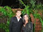 Aline Riscado usa look curtinho para badalar com Felipe Roque no Rio