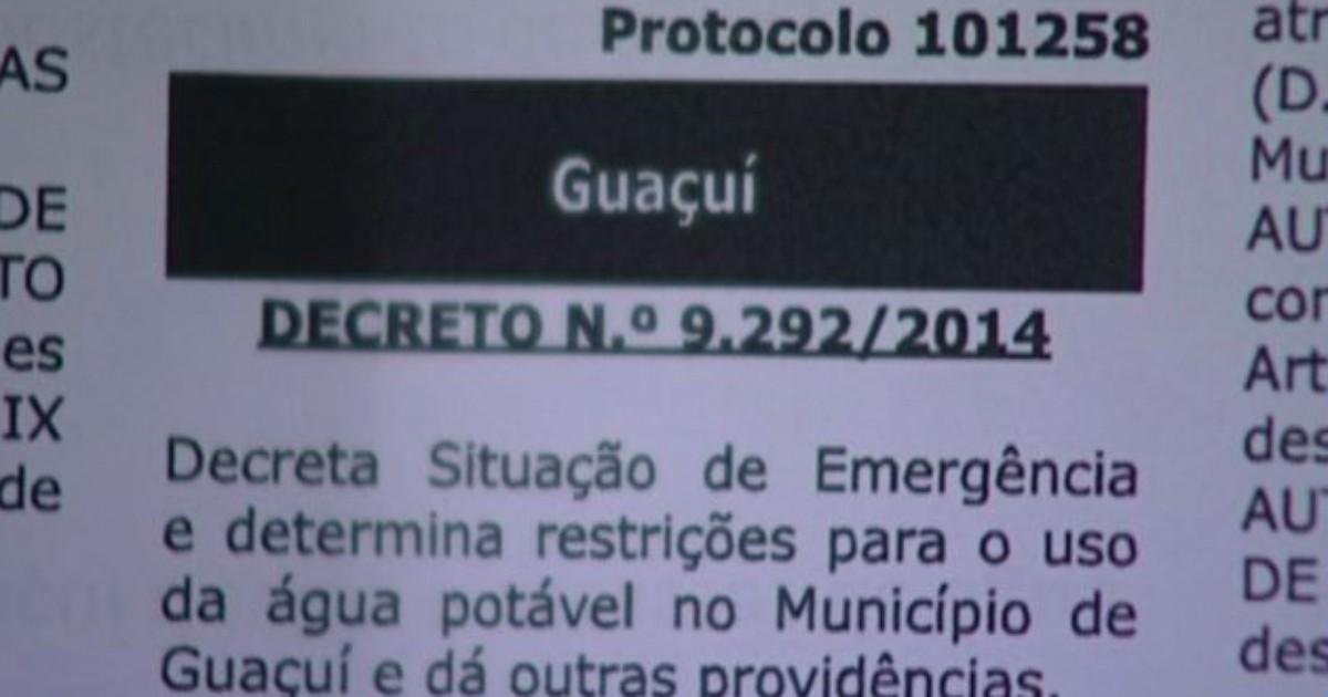 Prefeitura cria decreto para restringir uso de água potável em ... - Globo.com
