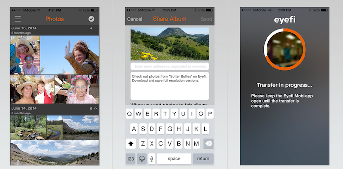 Capture suas fotos, que o Eyefi-Mobi as organiza automaticamente para você (Foto: Divulgação/AppStore)