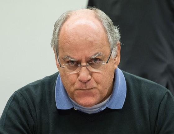 Renato Duque, ex-diretor de Serviços da Petrobras, na CPI da Petrobras (Foto: Marcelo Camargo / Agência Brasil)