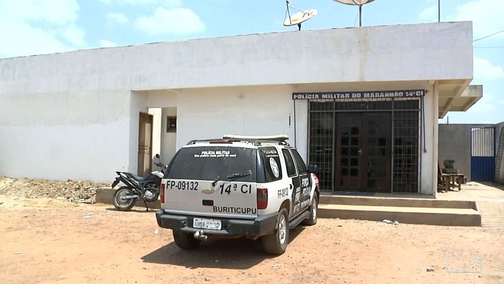 Os três suspeitos de praticar o assassinato foram exonerados da companhia de polícia em Buriticupu. (Foto: Reprodução/TV Mirante)