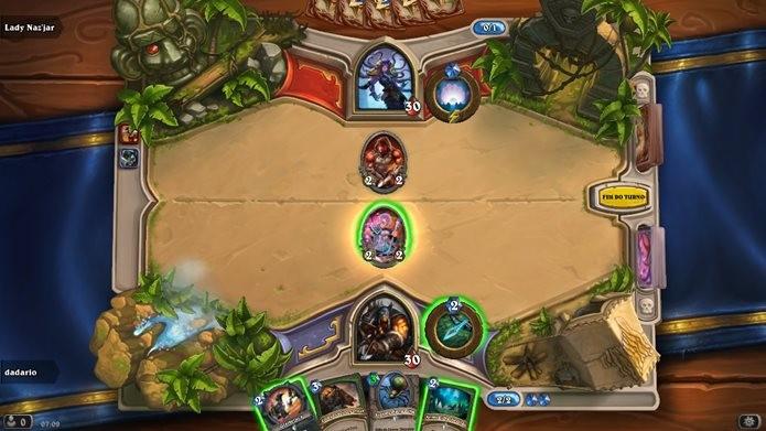Nesta partida é preciso criar um deck cheio de criaturas com custa de 1 a 6 (Foto: Reprodução / Dario Coutinho)