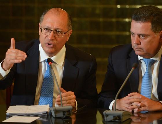 Geraldo Alckmin e Marconi Perillo: governadores de São Paulo e Goiás, respectivamente (Foto: Wilson Dias/Agência Brasil)