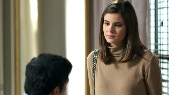 Teaser: Luíza procura Eric e conta sobre proposta de Cássio